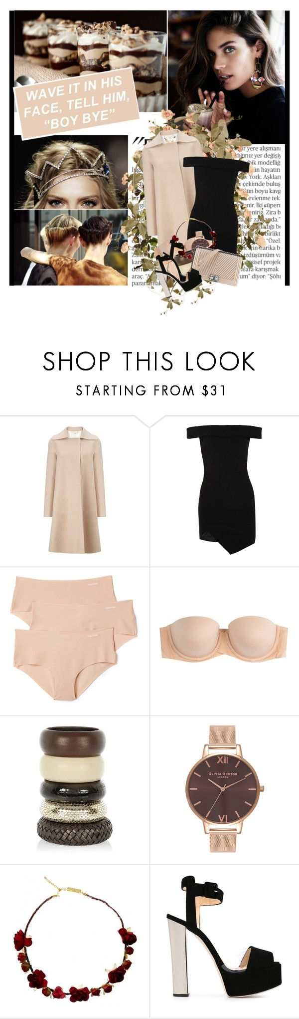 """""""Oh, grant that I can stay the night or one more day inside this life"""" by winfreda ❤ liked on Polyvore featuring Balmain, MANTU, Elizabeth and James, Calvin Klein Underwear, SPANX, River Island, Olivia Burton, Chanel and Giuseppe Zanotti"""