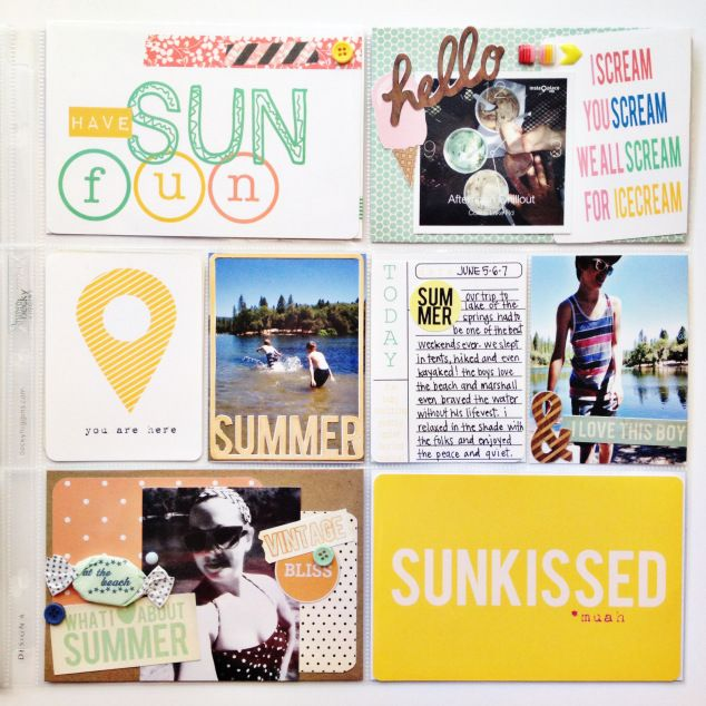 project life layout using Front Street Pier by Stephanie Adams Designs // by retrohipmama