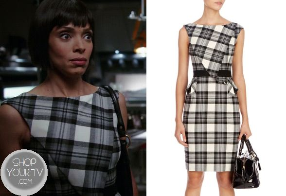 Shop Your Tv: Bones: Season 9 Episode 9 Camille's Black and White Plaid Dress
