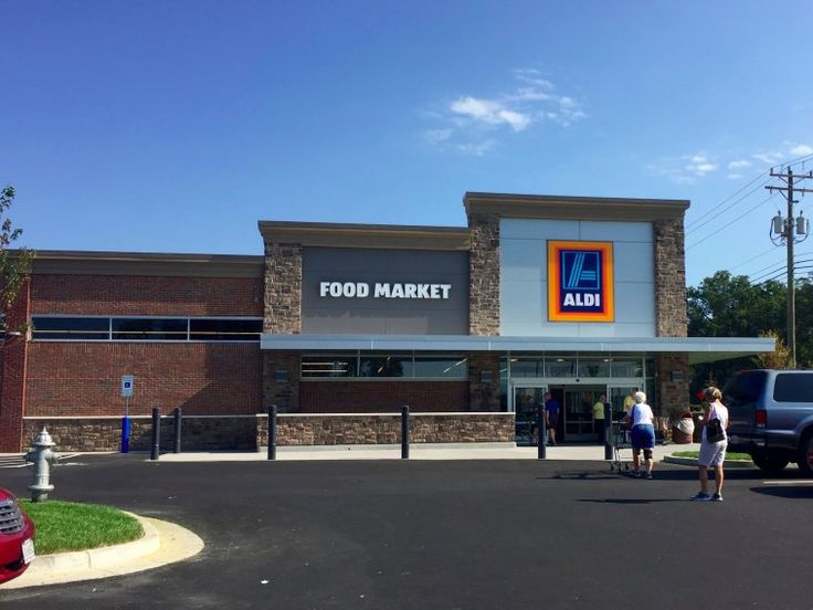 The new Aldi store looks similar to its older stores on the outside.