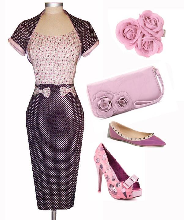 Vestido estampado de personitas ((tejido vintage) con lunares. Con Torerita  Algodón en parte superior y satén elástico en falda