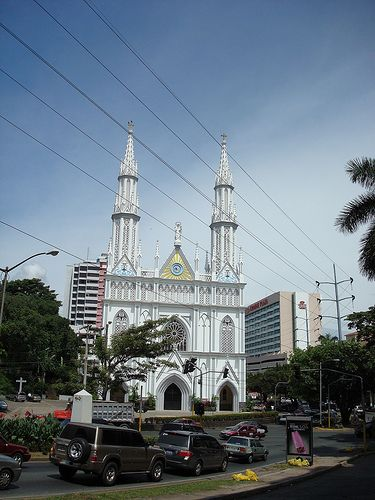 A church in the heart of Panama City in the Obarrio/El Cangrejo neighborhood of the city. There are frequent wedding held here, almost always accompanied by a firework show!