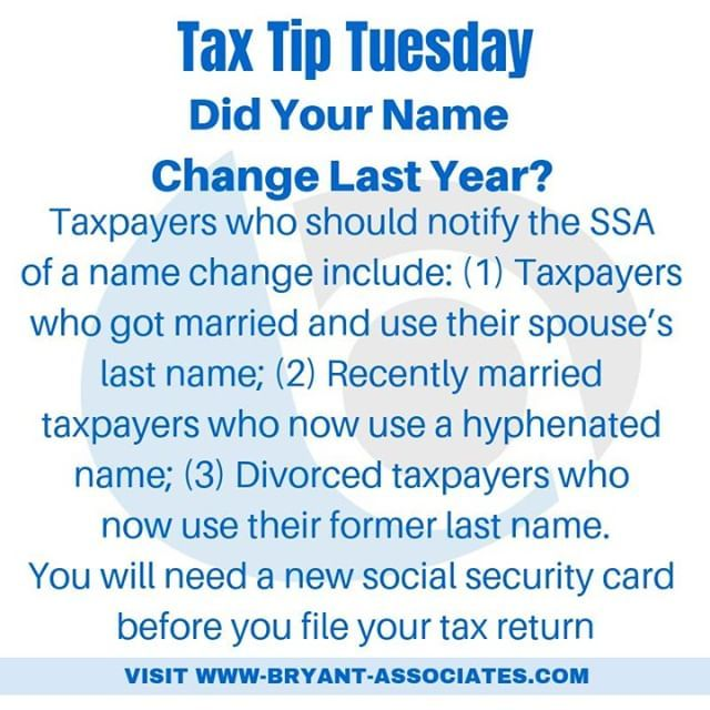 Did Your Name Change Last Year Taxpayers Who Should Notify The