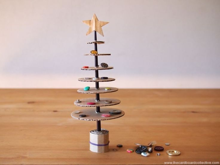 The Cardboard Collective: Cardboard and Chopstick Christmas Tree by Amber