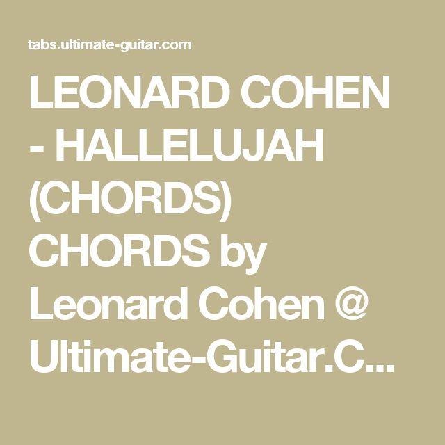 Hallelujah Lyrics And Piano Sheet Music: Die Besten 25+ Leonard Cohen Hallelujah Chords Ideen Auf