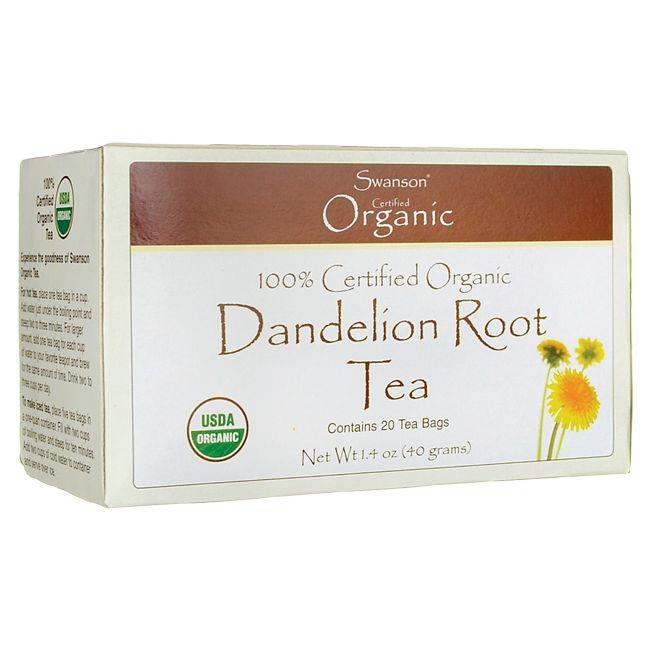 Swanson Organic 100% Certified Organic Dandelion Root Tea
