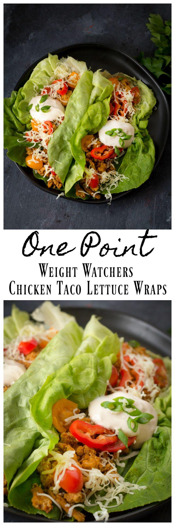 Chicken taco lettuce wrap