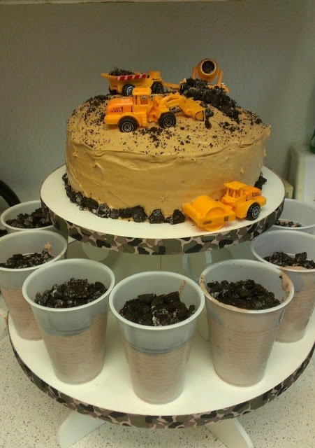 Perfect birthday party idea!!! If reed still loves construction trucks this will be great for his 3rd bday.