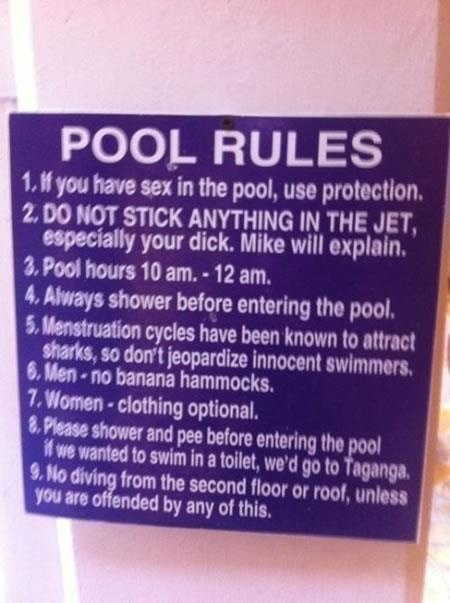 Special Pool Rules