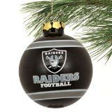 Oakland Raiders Official NFL 3~!~!~ Glass Ball Christmas Ornament by Forever Collectibles