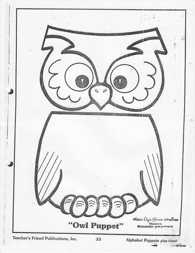 paper bag owl craft pattern crafts and worksheets for preschooltoddler and kindergarten