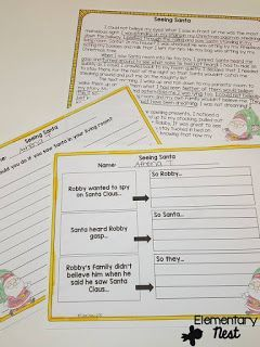 Christmas Fictional Reading Comprehension- December Activities and primary resources plus three FREEBIES- fun ELA, math, and social studies activities for students during the month of December