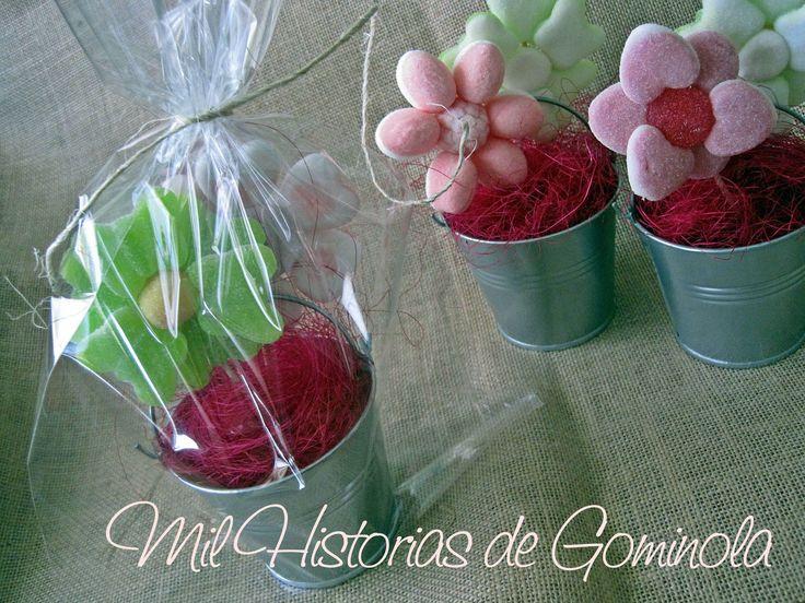 Flores de Chuches de regalo para los invitados de una boda