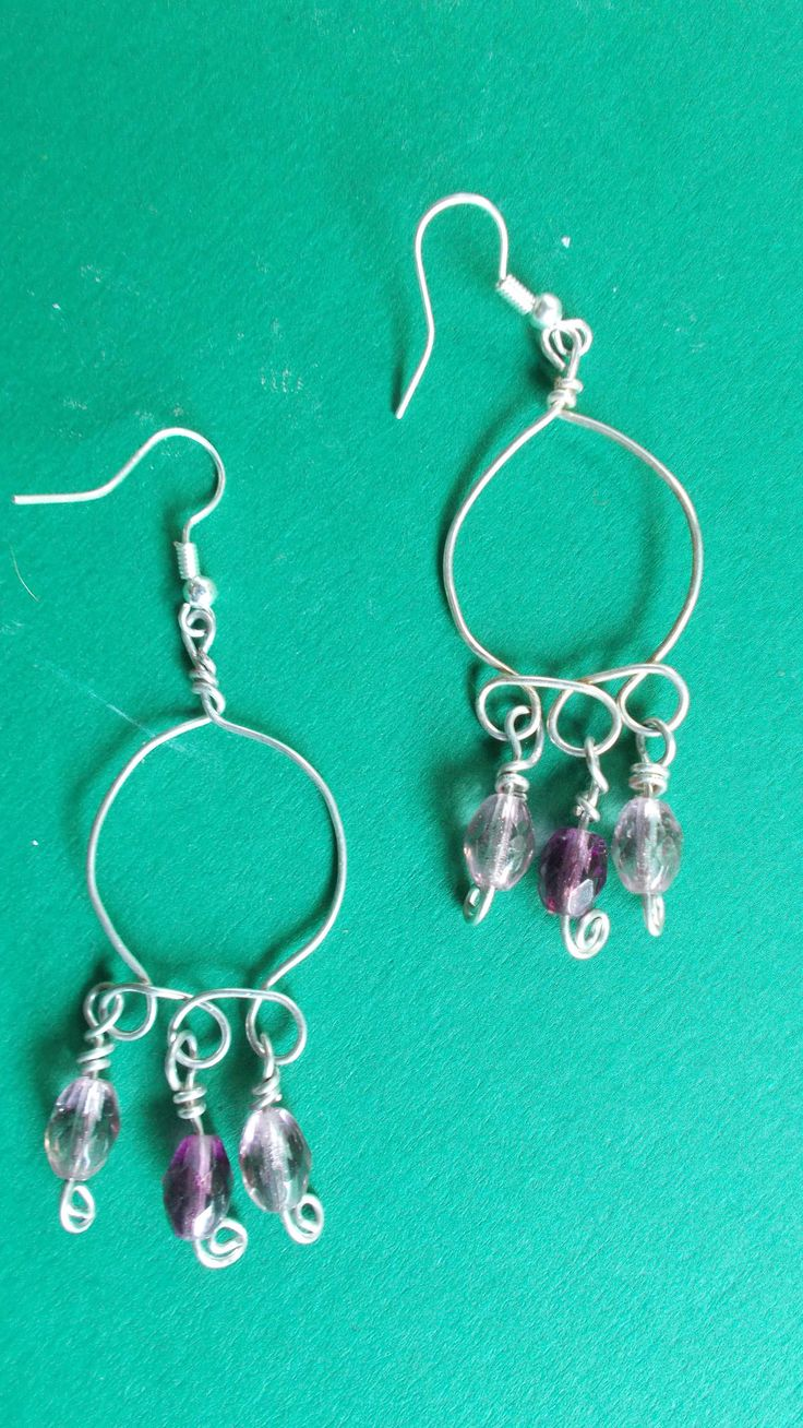 https://flic.kr/p/ugMguz | Earrings--glass crystals, silver-plated wire