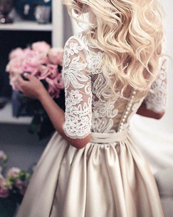 Lace wedding dress SIBILLA, wedding dress, wedding…