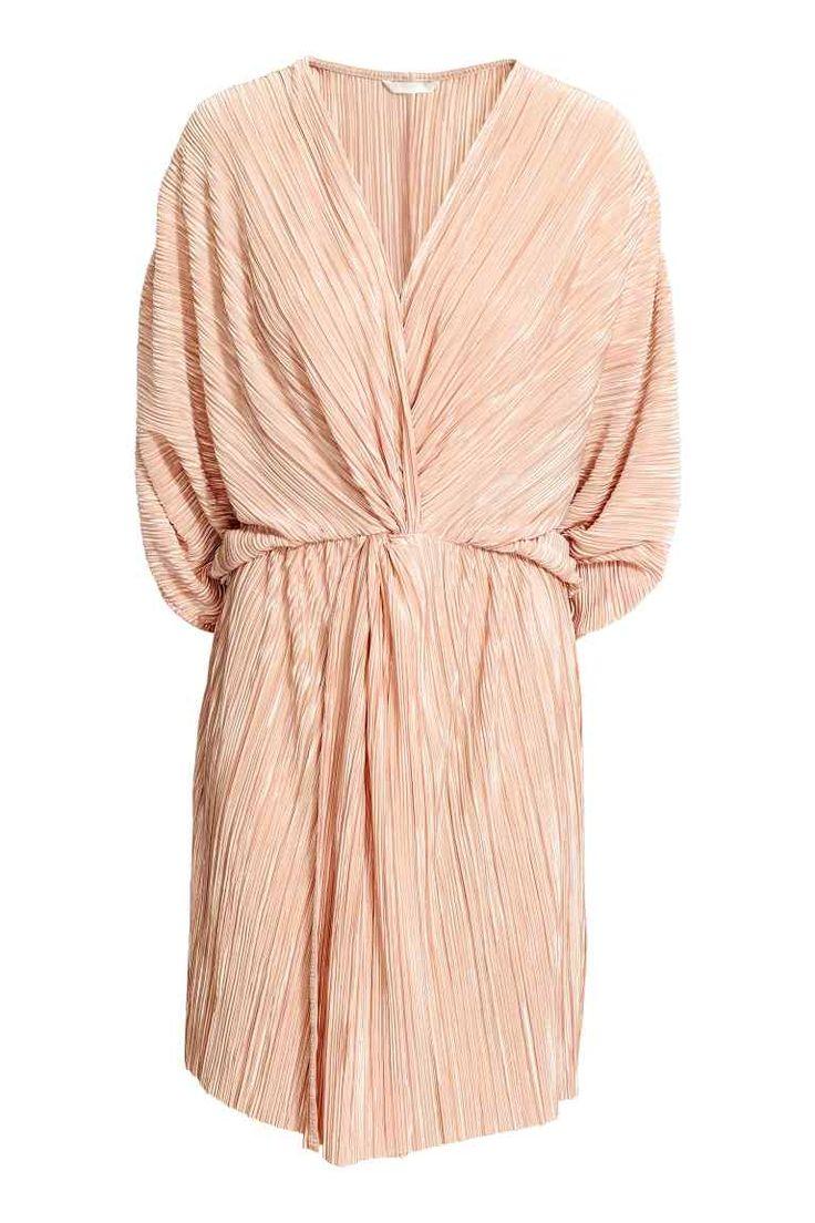Плиссированное платье - Пудра - Женщины | H&M RU