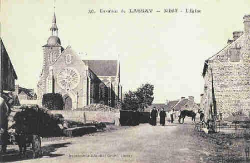 Niort la Fontaine - L'Eglise vers 1910