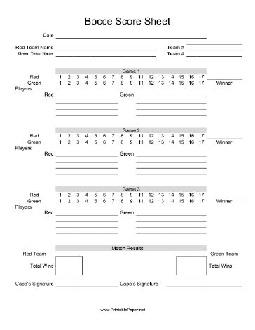70 best Printable Game Score Sheets images on Pinterest DIY - sample cricket score sheet