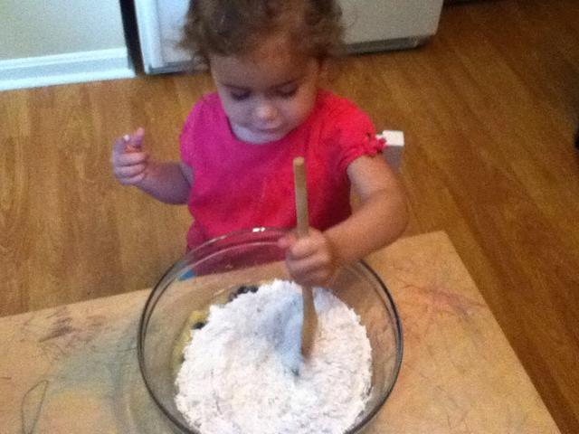 Combine dry ingredients, then stir into wet ingredients.