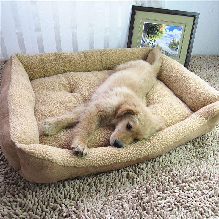Extra Large Dog Bed Soft Berber Fleece Puppy Cushion Winter Warm Pet Dog House Washable M-XL #Affiliate