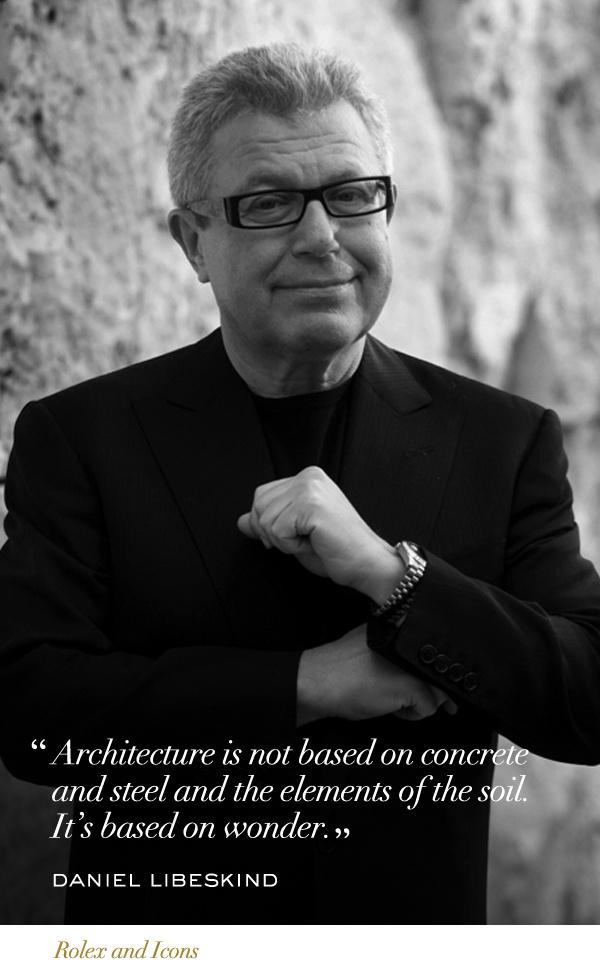 Daniel Libeskind #Rolex #Icons #RolexOfficial