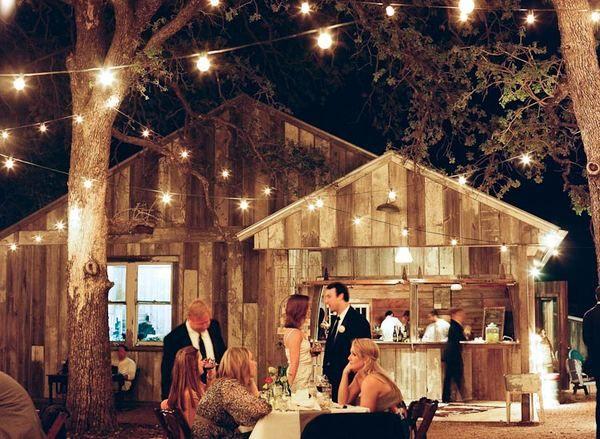 outdoor rustic theme Wedding: Trav'Lin Lights, Fairies Lights, Barn Weddings, String Lights, Lighting Ideas, Barns Photography, Outdoor Bar, Barns Wedding, Rustic Barns