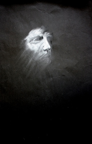 Mask 60 X 80 Chalk on Sugarpaper