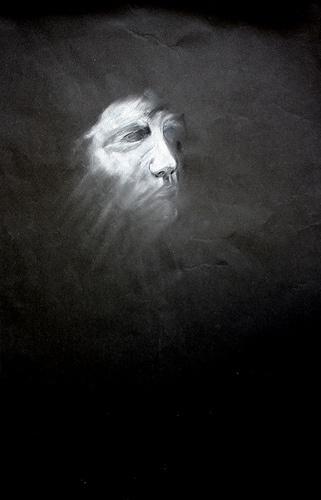 Mask 60 X 80 Chalk on Sugarpaper