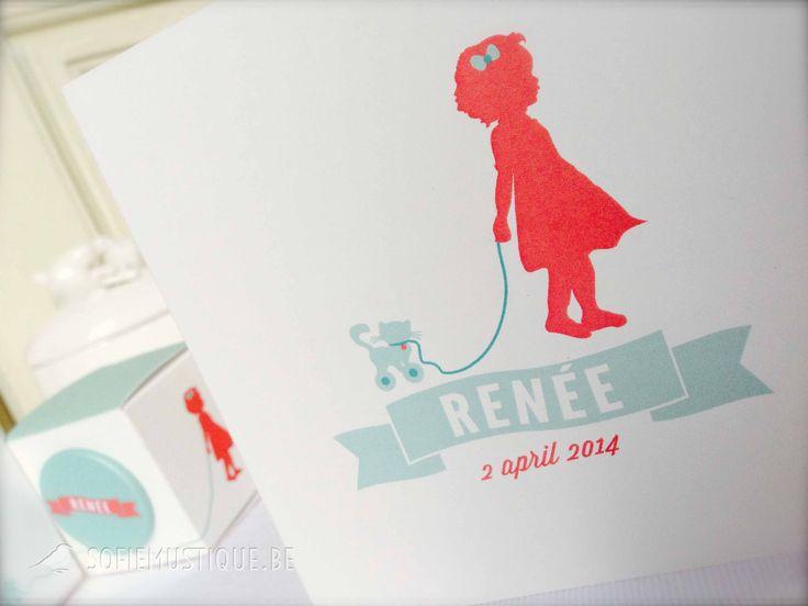 Geboortekaartje Renée | Geboortekaartjes op maat | sofiemustique.be | Birth Card Renée