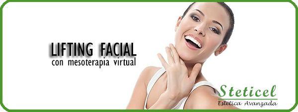 LIFTING FACIAL:  mesoterapia virtual + máscara LED  desde 35€/sesión   STETICEL, la belleza a tu alcance  Pintor Aparicio, 16. 03003 Alicante  965 927 556  www.esteticaenalicante.es