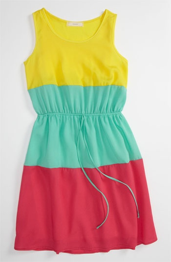 Soprano Colorblock Dress (Little Girls  Big Girls) available at #Nordstrom
