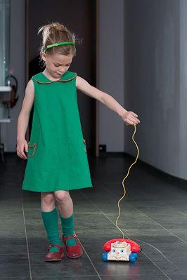 Groen A-lijn jurkje