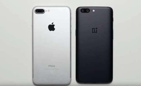 OnePlus 5 vs iPhone 7 Plus - clona si originalul in testul suprem al performantelor (VIDEO)