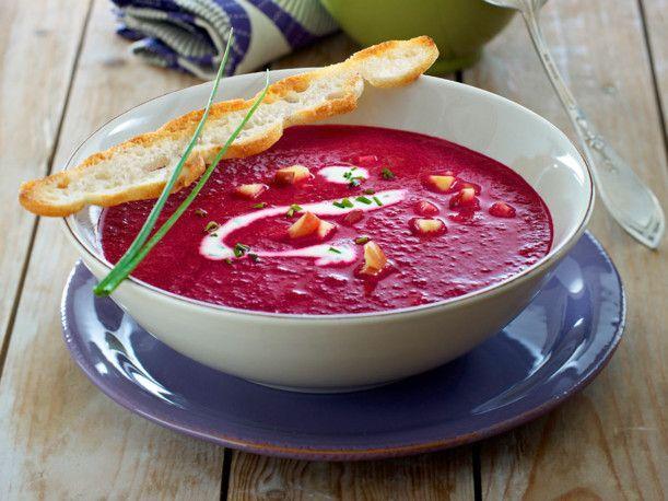 Unser beliebtes Rezept für Rote-Bete-Apfel-Suppe und mehr als 55.000 weitere kostenlose Rezepte auf LECKER.de.