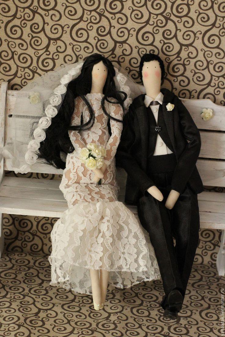 Купить Свадебная пара Тильды. - белый, невеста, жених, жених и невеста, невеста-принцесса ♡