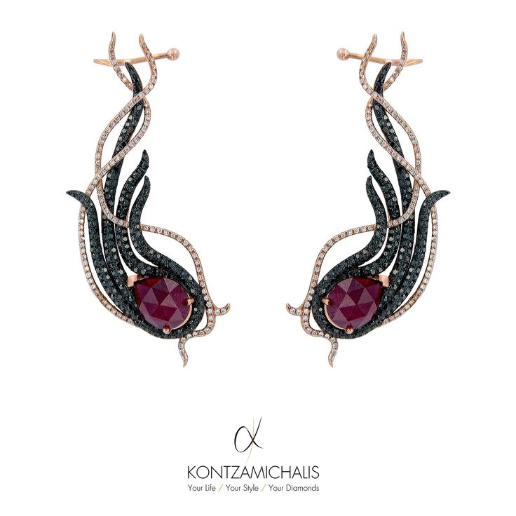 Intensify you Saturday night with these absolutely mesmerizing beauties from the #AnemosCollection  Anemos is the greek word for wind, justifying the flowing design of these earrings. #KontzamichalisJewellery http://kontzamichalis.com/anemos-2/