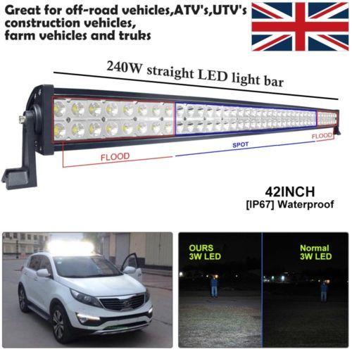 120-126-240W-CREE-LED-Spot-Flood-Combo-Driving-Light-Bar-Car-Off-Road-Truck-SUV