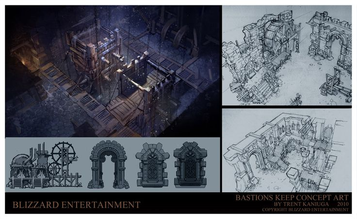 ArtStation - Diablo 3 Bastions Keep and lower dungeon Concept Art, Trent Kaniuga