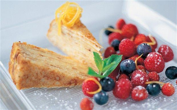 Lemon pancake gateau (Michel Roux Jr)