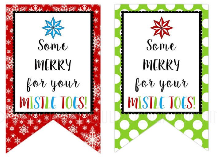 For Your Mistletoes Gift Tags Printable Nail Polish Gift