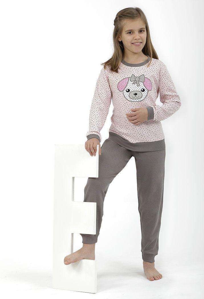 Pijama grey&rose con dibujo teddy bear <3