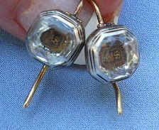 Stuart Crystal Earrings, Circa 1690
