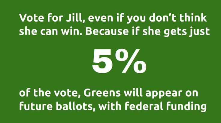 Just 5% of the vote gives us a corruption-free party of the people option the Plutocrats can't buy out.