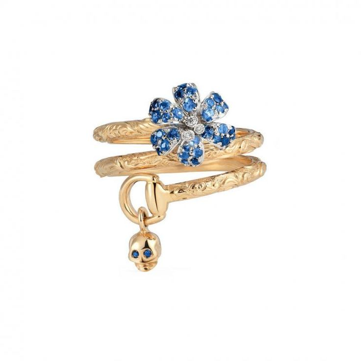 Gucci Flora #Ring With Sapphires