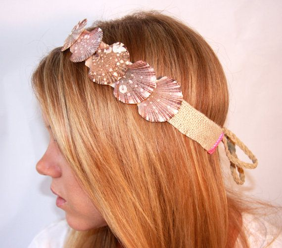 could make a mermaid headband like this out of cardboard and glitter