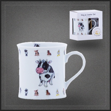 mug caf vache tasse th porcelaine pas cher de la collection animaux de la ferme pour la. Black Bedroom Furniture Sets. Home Design Ideas