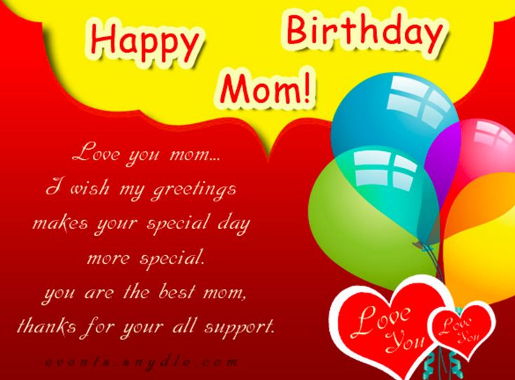 Birthday Greetings for Mom