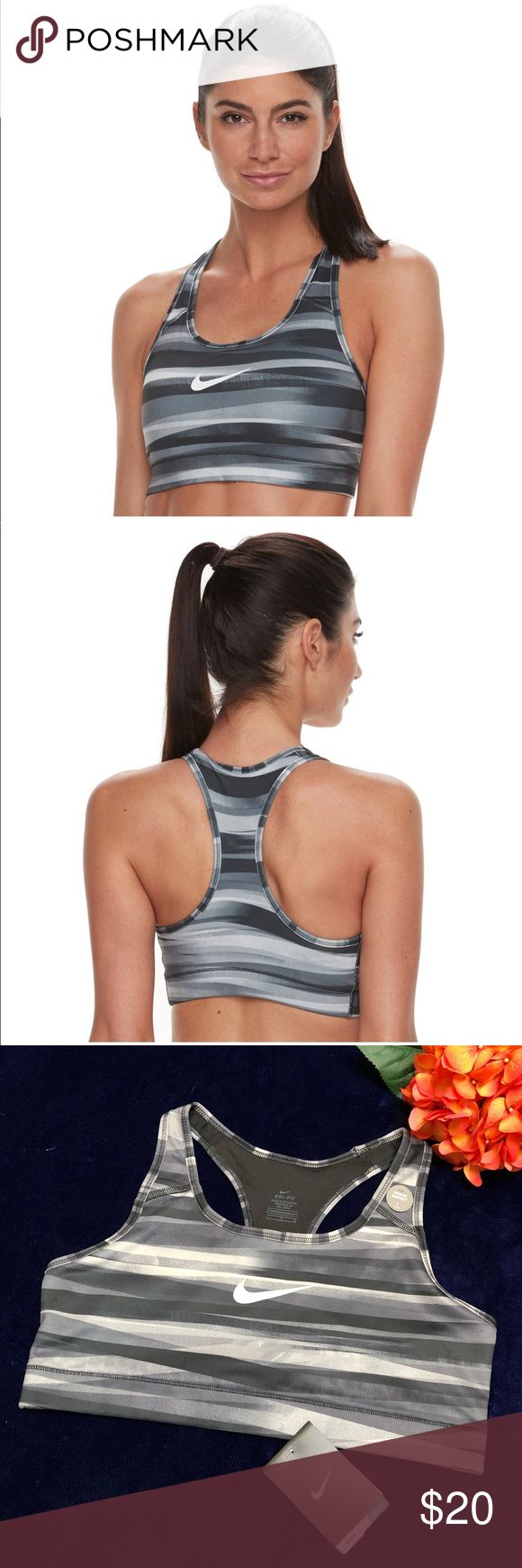 Women's Nike Victory Compression Sports Bra Sz L Women's Nike Bras: Victory Compression Monolith Medium-Impact Sports Bra Sz L.  Perfect for medium-impact exercises such as biking Dri-FIT moisture-wicking technology helps you stay dry & comfortable Brushed chest band delivers a comfortable fit Racerback design allows for a full range of motion Flat seams feel smooth against your skin Stabilized front straps with internal nylon for added support Nike Swoosh logo Compression fit offers…