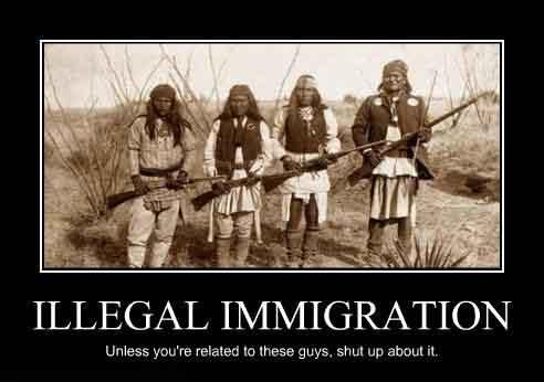 "Haha... seriously!!  My other favorite... when people say ""you're in America, speak English not Spanish!""  Do you hear Indians saying ""speak Cherokee??  hmmmm??"