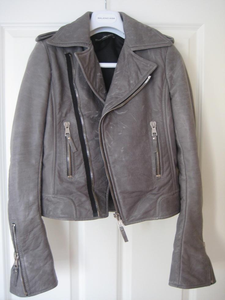 Balenciaga grey moto jacket